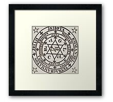 The Great Magic Circle of Agrippa for the Evocation of Demons Framed Print