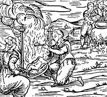 Witches roasting and boiling infants by Bridgeman Art Library