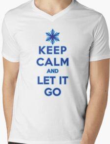Keep Calm and Let It Go (light background) Mens V-Neck T-Shirt