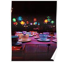 Alice In Wonderland Tea Cups Poster