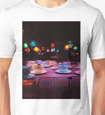 Alice In Wonderland Tea Cups Unisex T-Shirt