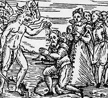 Baptism by the Devil by Bridgeman Art Library