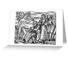 Baptism by the Devil Greeting Card
