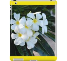 Frangipani or Yellow and White Flower Barbados Spring  If you like, please purchase, try a cell phone cover thanks iPad Case/Skin
