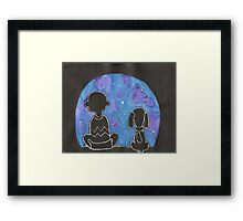 Charlie Brown Wonderment Framed Print