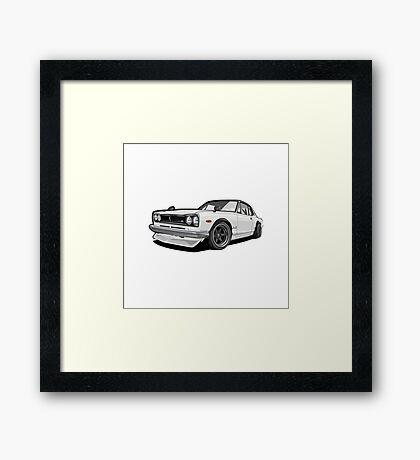 Nissan Skyline | Nissan Gtr |Nissan Hakosuka Framed Print