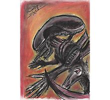 """Tribute to HR Giger""  Photographic Print"
