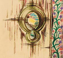 Garden through the key hole by Teresa White
