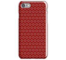 Benzene Rings (Ruby) iPhone Case/Skin