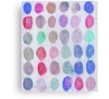 Red, Blue and Green Spots Canvas Print