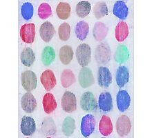 Red, Blue and Green Spots Photographic Print