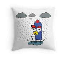 I am only happy when it rains (Pluviophile Bird) Throw Pillow