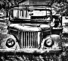 Tajik Jeep in Black and White by Kadwell
