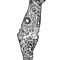 Israel Zentangle by alexavec