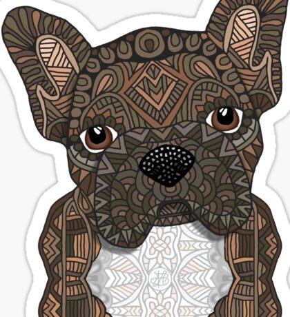 Brindle Frenchie 001 Sticker