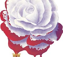 Painted Rose cut out by Audra Lemke