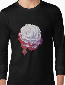 Painted Rose cut out Long Sleeve T-Shirt