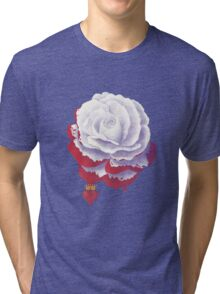 Painted Rose cut out Tri-blend T-Shirt