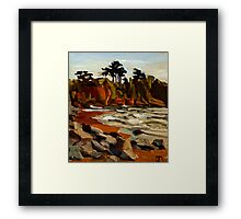 A Tramp Along the English Riviera. Framed Print