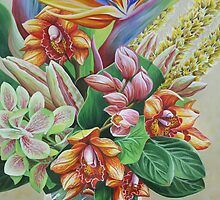 Tropical Bouquet by Jane Girardot