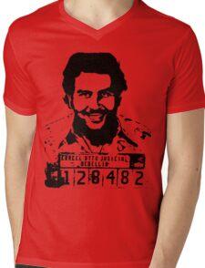 Pablo Escobar Mugshot Mens V-Neck T-Shirt
