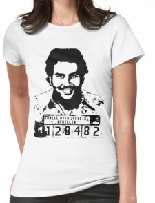 Pablo Escobar Mugshot Womens Fitted T-Shirt