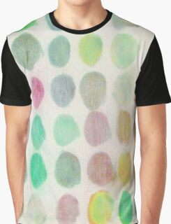 Orange, Green and Red Spots Graphic T-Shirt