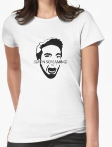 Gavin Screaming T-shirt Womens Fitted T-Shirt