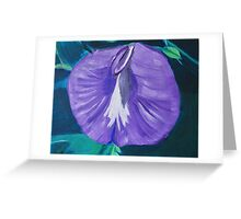 Purple and White Butterfly Pea Flower Greeting Card