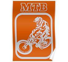 Downhill MTB rider Poster