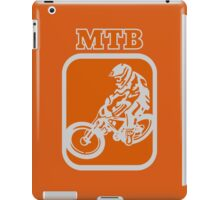 Downhill MTB rider iPad Case/Skin