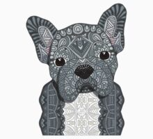 Gray Frenchie 001 One Piece - Long Sleeve