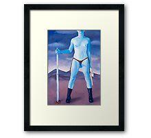 "Frightened Little Boys Rule the World, original acrylic on canvas, 60""x42"" Framed Print"
