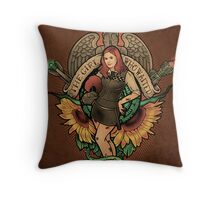 The Girl Who Waited - Print Throw Pillow