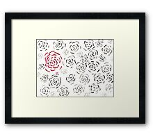 Rose Among Roses Left Framed Print