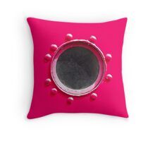 Hot Pink Porthole - Style #1 Throw Pillow