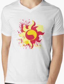 Sunset Shimmer Cutie Mark Mens V-Neck T-Shirt