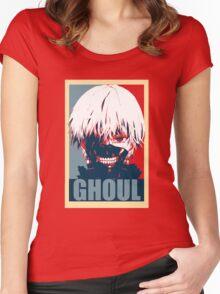 Kaneki Tokyo Ghoul Women's Fitted Scoop T-Shirt