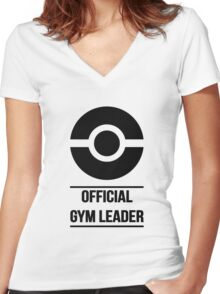 Official Gym Leader Brand Women's Fitted V-Neck T-Shirt