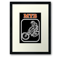 Downhill Mountain Bike Framed Print