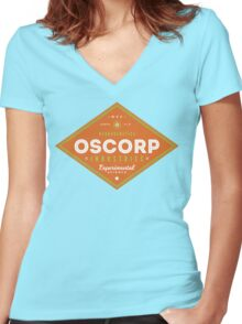 OSCORP Industries Women's Fitted V-Neck T-Shirt
