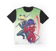 Miraculous Ladybug & Cat Noir Graphic T-Shirt