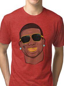 Gucci Mane Cartoon Tri-blend T-Shirt
