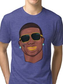 Gucci Mane Cartoon Tri-blend T-Shirt