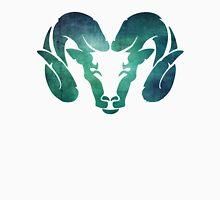 Aqua Rams Head Spirit Animal Unisex T-Shirt