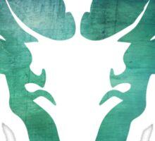 Aqua Rams Head Spirit Animal Sticker
