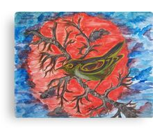 Green Warbler Canvas Print