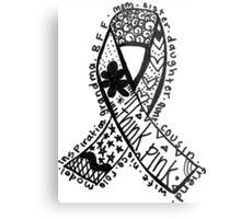 Breast Cancer Ribbon Metal Print