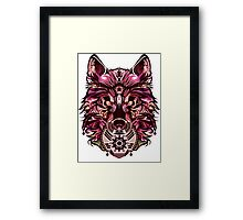 Snow Wolf - Pink Edition Framed Print