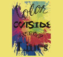 Color Outside the Line Baby Tee
